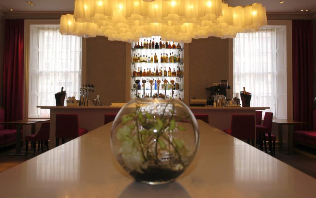 Distinctive Georgian Bar at Tigerlily, Edinburgh captured in bar and restaurant PR photography