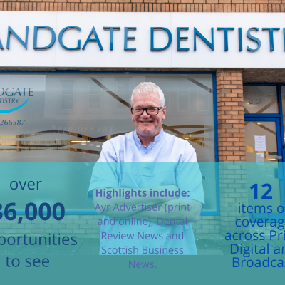 Health PR photography Clyde Munro Sandgate acquisition success graphic.