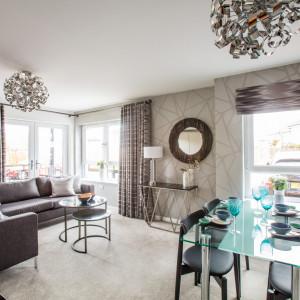 Property PR photography Dundas Estates Calderwood Village apartments interior living room, apartment 3