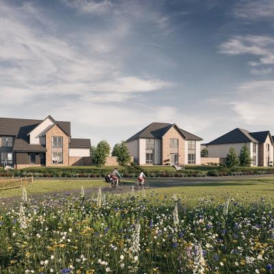 Property PR photography Cammo Park Edinburgh - CALA Homes (East)
