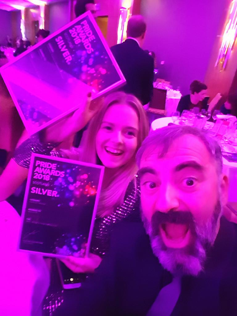 Holyrood PR staff at PR awards 2018
