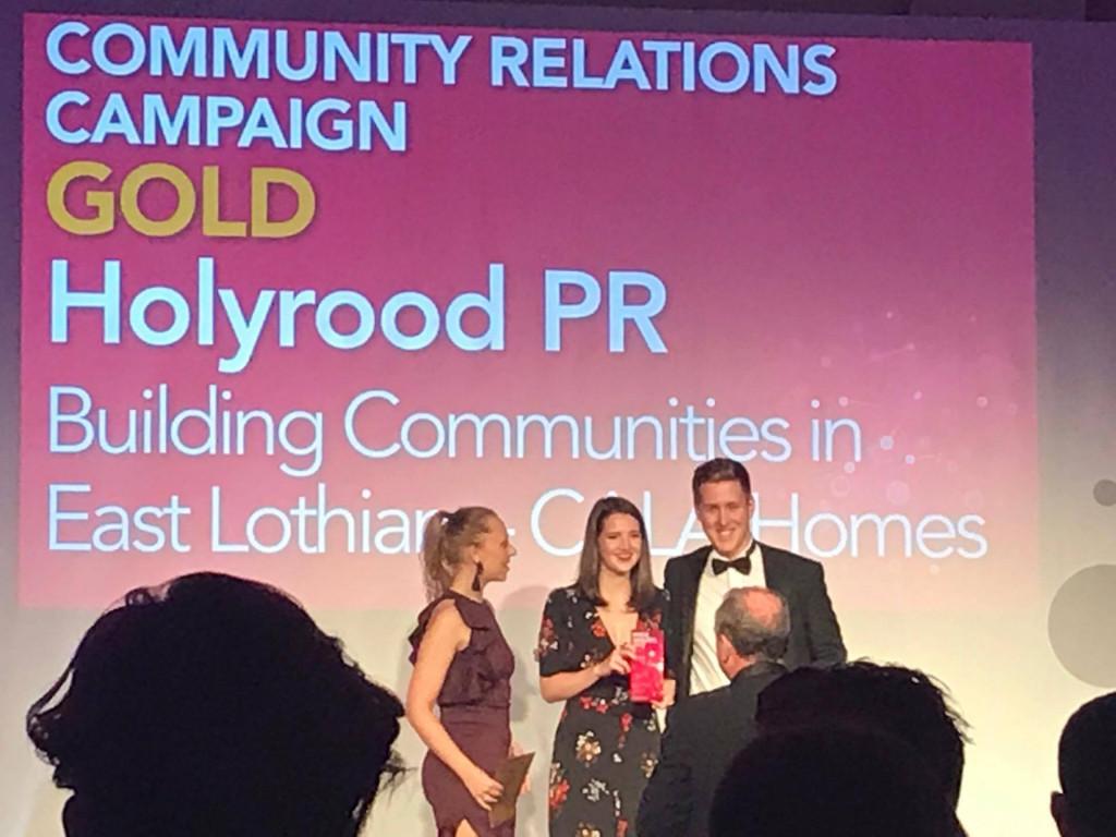 Holyrood PR agency collects a gold PR award at 2017 CIPR Scotland awards