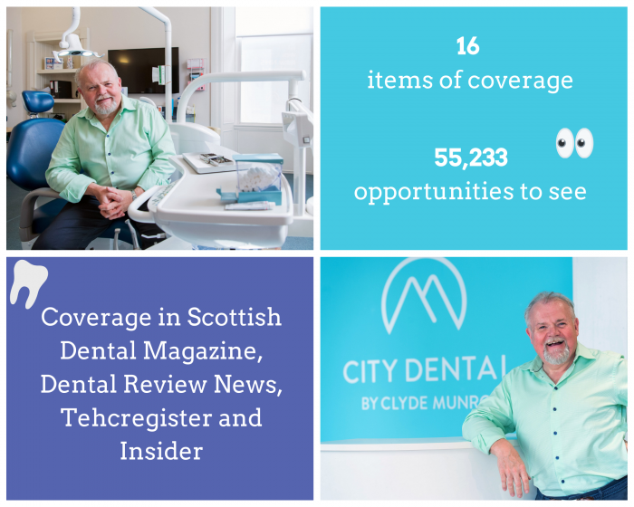 Health PR photography, Investec funding success graphic, Clyde Munro.