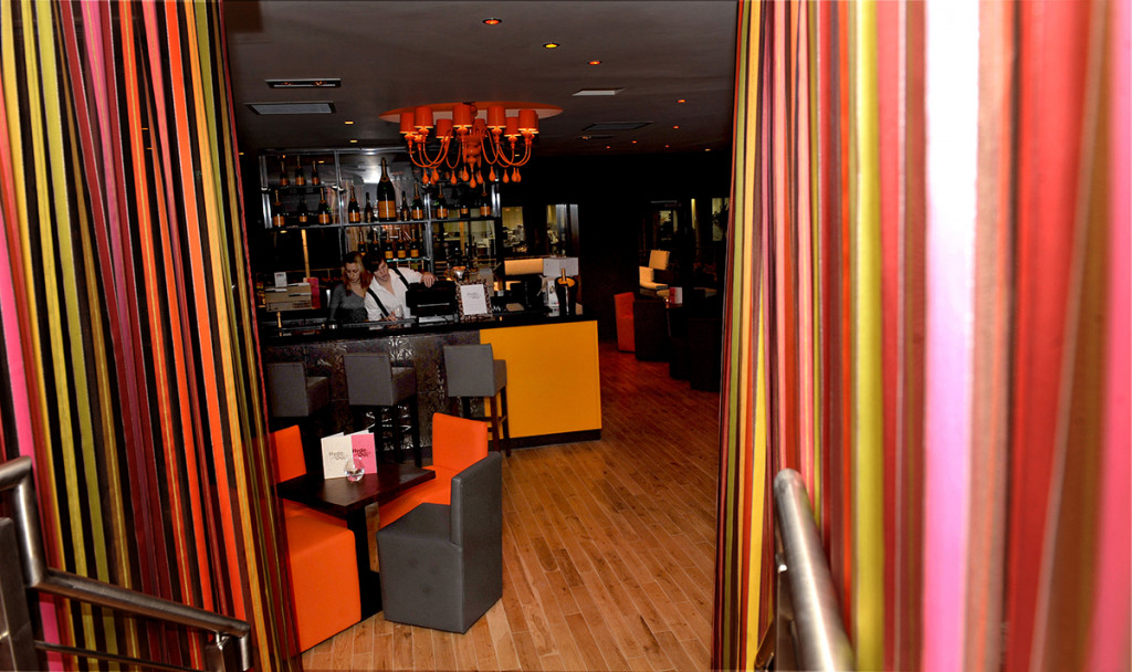A splash of vivid colour at style bar, Hyde Out
