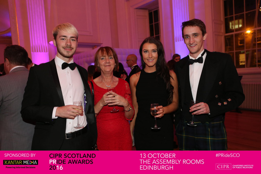 Staff from award winning PR agency Holyrood PR celebrate success at the 2016 Chartered Institute of PR Awards