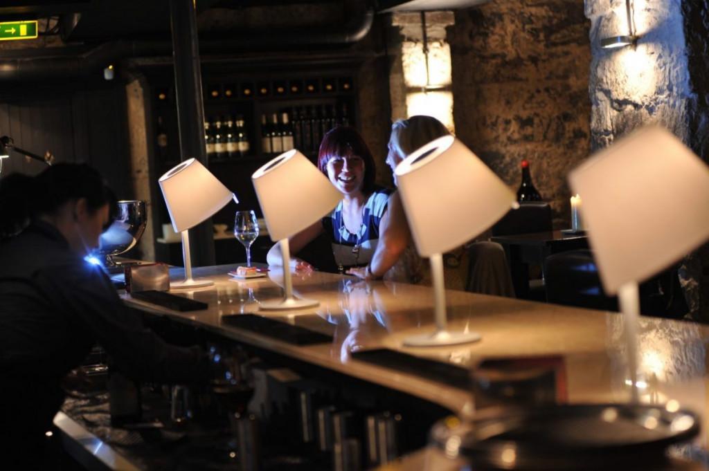 The interior of Edinburgh wine bar Divino Enoteca is caputured in a Bar and Restaurant PR image