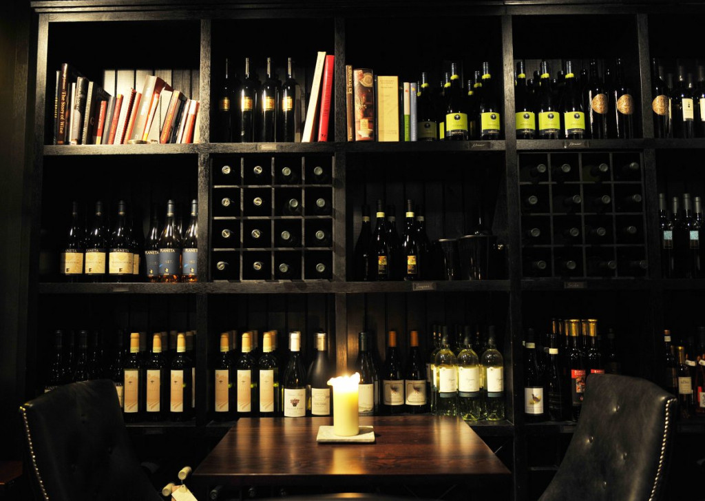 The wide selection of wine available at Divino Enoteca is shown in a food and drink PR image