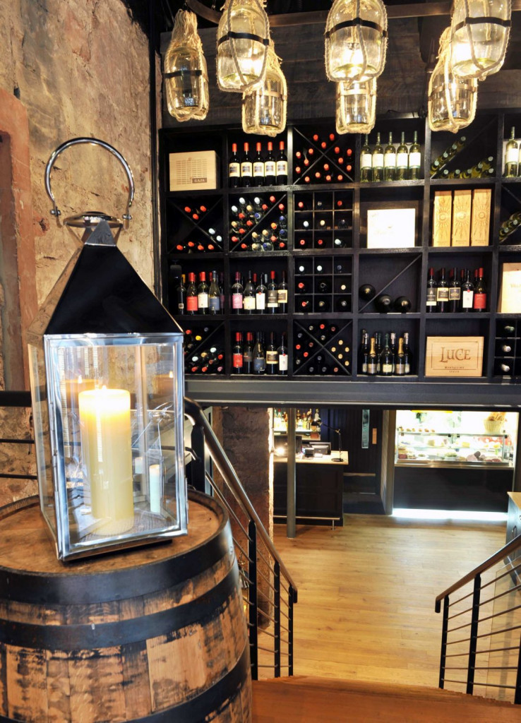 The extensive wine offering at Divino Enoteca is captured in a Bar and Restaurant PR image