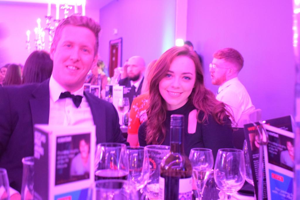 PR photograph of Holyrood PR Account Director Chris and Videographer Elisabeth