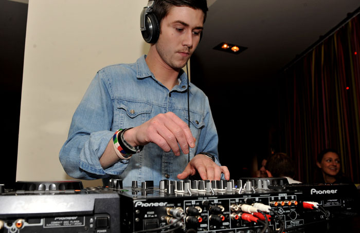 DJ playing at Hyde Out style bar in Edinburgh
