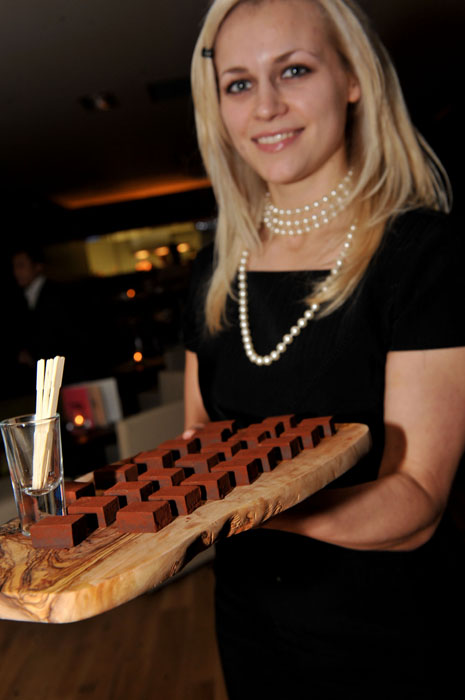 VIP guest greeted with canapes at Hyde Out launch event