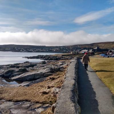 Charity PR photography, Da sletts paths NHS Shetland, Paths For All.