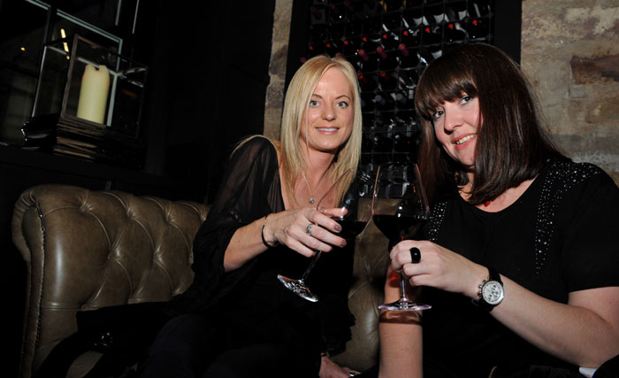 Guests are seen enjoying the launch of Edinburgh wine bar, Divino Enoteca
