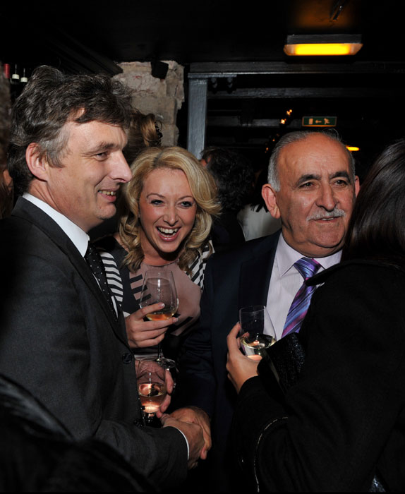 The launch of Edinburgh wine bar, Divino Enoteca, is captured in a PR photograph