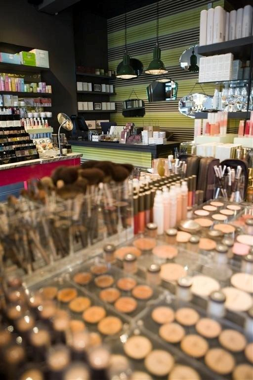 Products on display in DollyLeo cosmetics boutique
