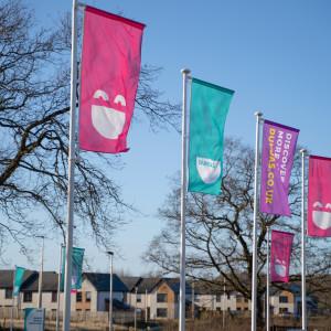 Property PR photography, Dundas flags, Dundas Estates.