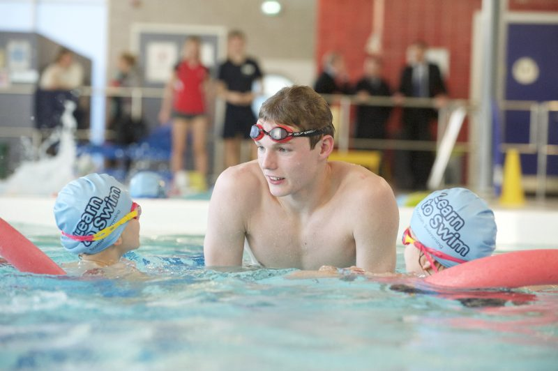 Olympic Swimmer Duncan Scott launches the Learn to Swim programme in East Lothian
