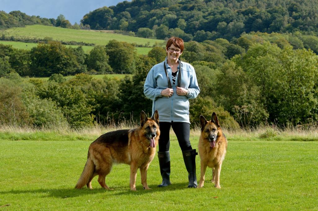 Elaine, 56, with Lola and Evie