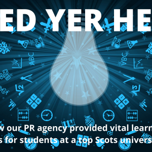 PR agency success case study taught at Stirling University