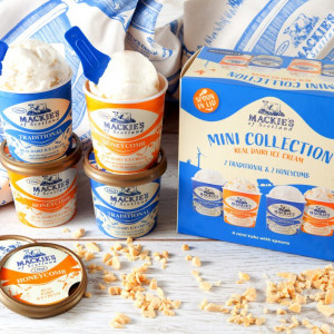 Product shot showing Mackie's mini collection tubs