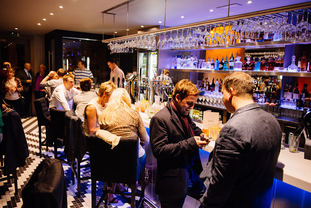 Pub and restaurant PR photography Bothy Murrayfield opening bar photo.