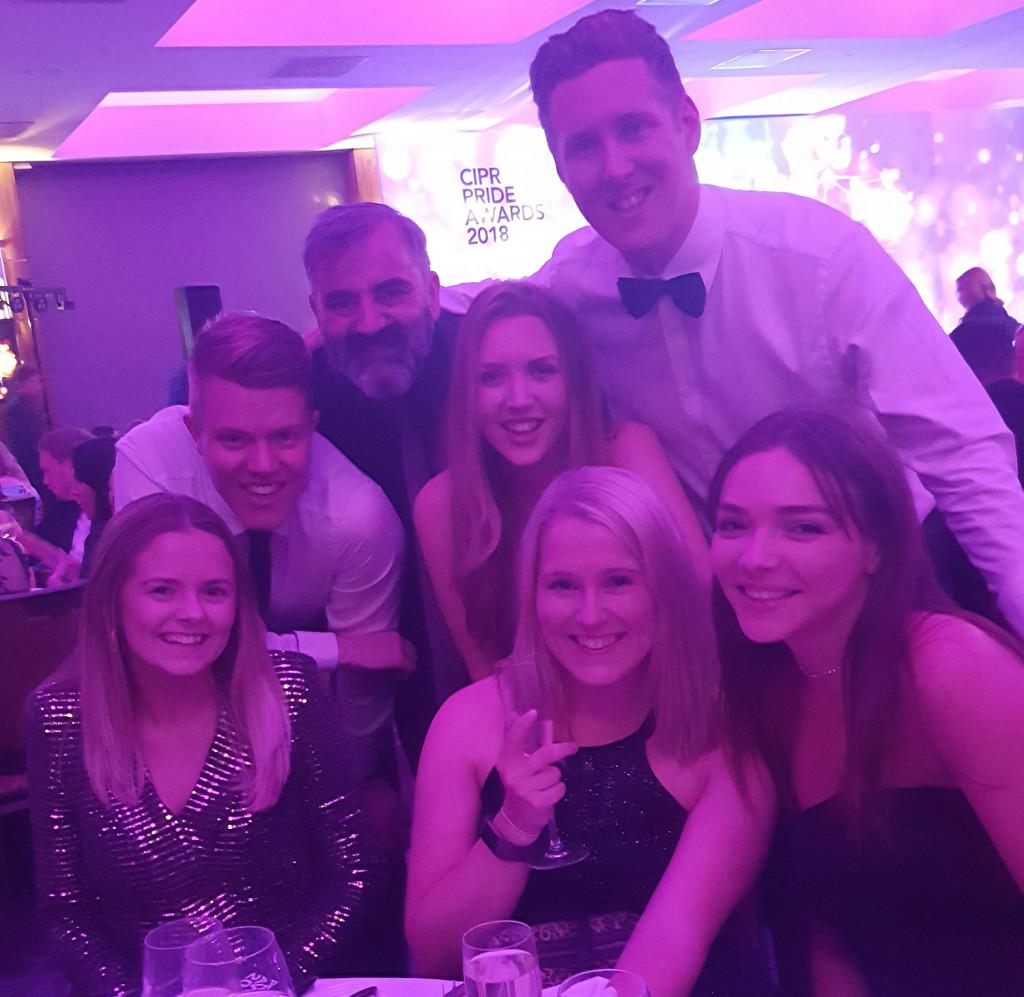 Holyrood PR's happy team at PR awards ceremony