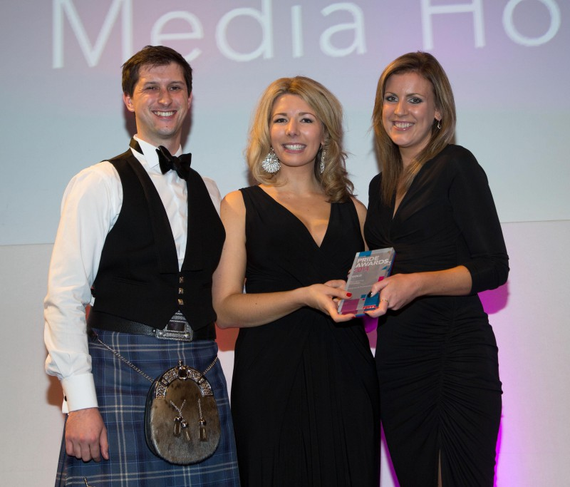 public relations agency in Scotland won five PR awards at 2014 ceremony