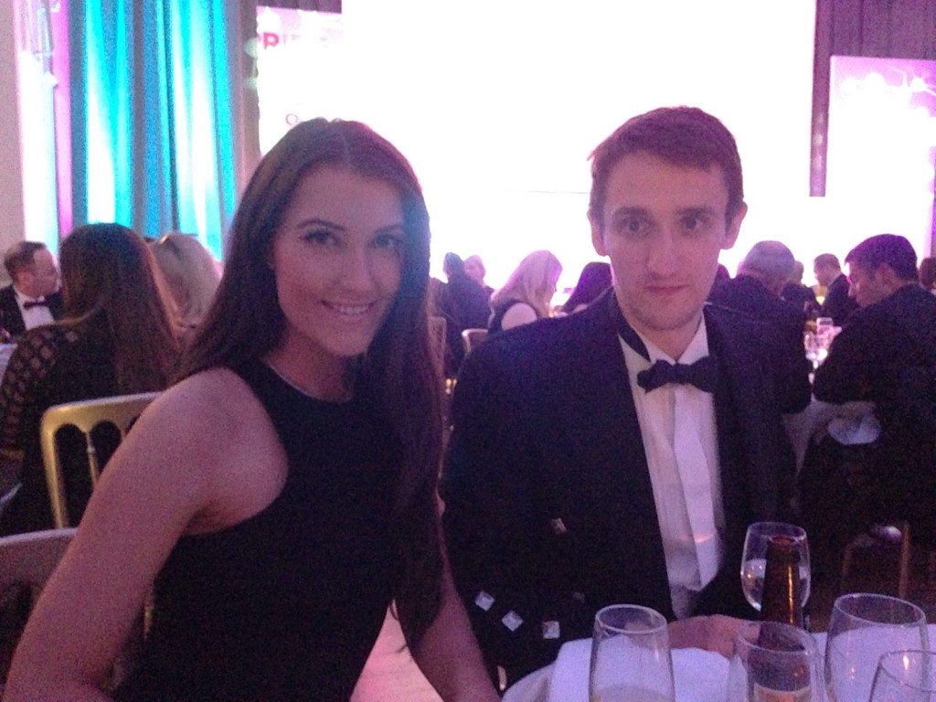 Two members of Holyrood PR celebrate winning a clutch of PR awards