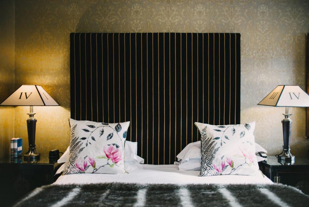Hospitality PR photograph of a bed at Nira Caledonia