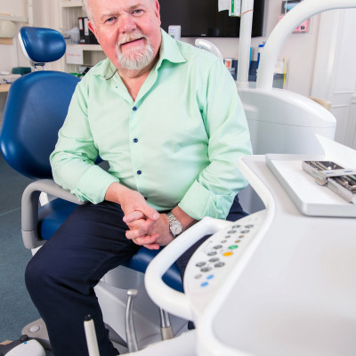 Health PR PR photograph of Jim Hall, founder of Clyde Munro dental group