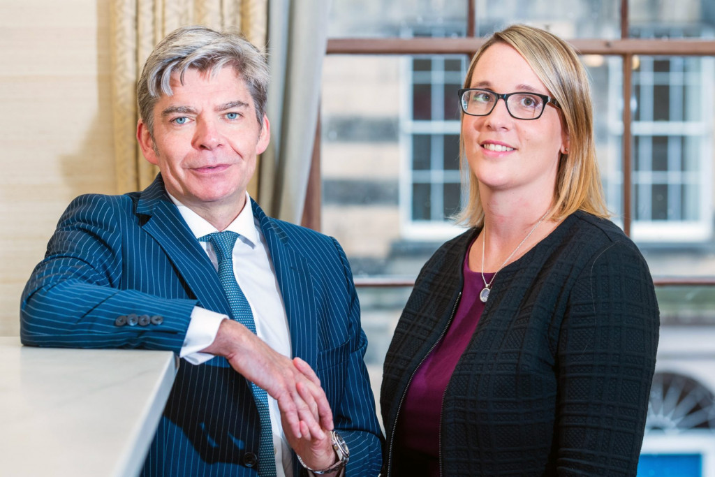 PR photography of senior staff with Johnston Financial in Edinburgh, Scotland