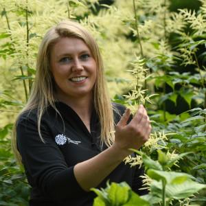 Scottish PR photohraphy Kirsty Wilson, Herbaceous Supervisor at Royal Botanic Garden Edinburgh.