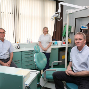 Health PR photography L-R Chris Corbet, Stephanie Kay, Iain McIntyre - Photography by Peter Jolly, Clyde Munro.