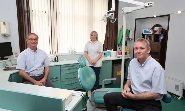 Health PR photography L-R Chris Corbet, Stephanie Kay, Iain McIntyre - Photography by Peter Jolly, Clyde Munro.