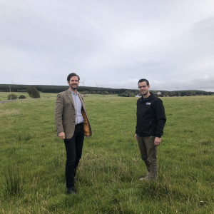 Scottish PR photography shot of L-R Robin Winstanley and Alan Wells press