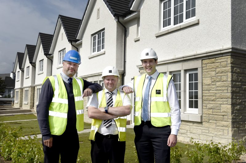 Handover of affordable properties from CALA Homes in Midlothian
