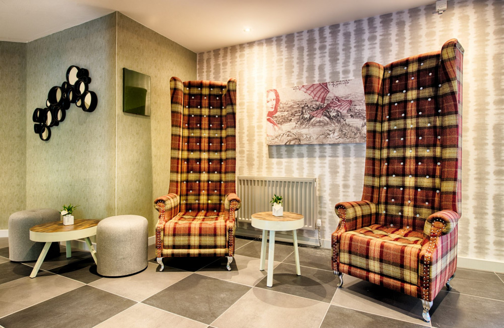 The lobby area at Leonardo Hotel in Edinburgh