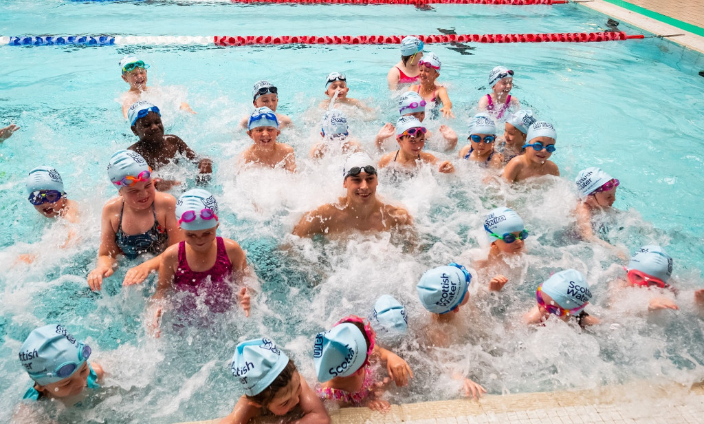 Learn to Swim launch with Stephen Milne, Perth
