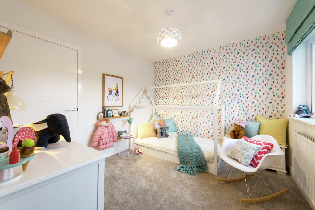 Property PR photography, Letham Views girls bedroom, CALA Homes (East).