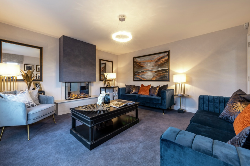 Property PR photography, Letham Views living area, CALA Homes (East).