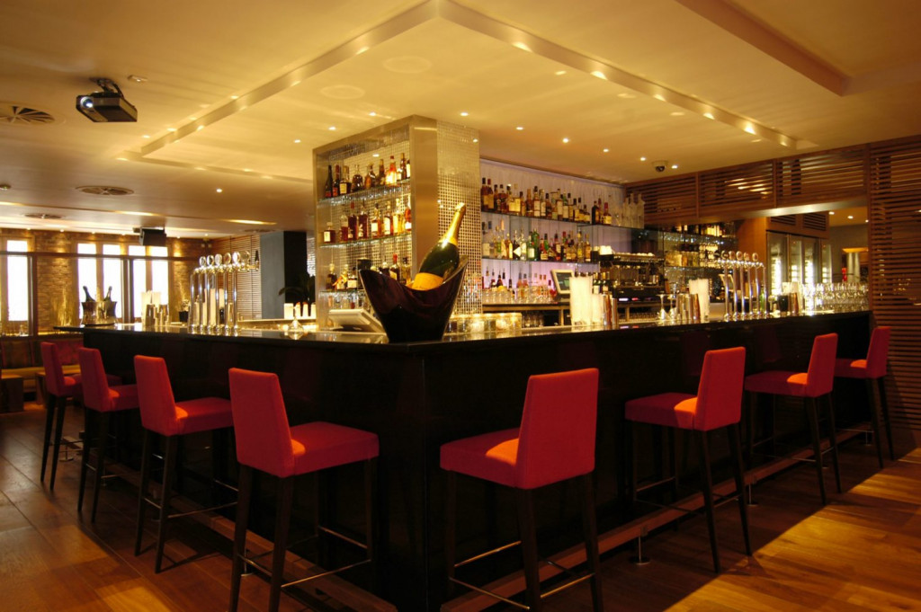 Hospitality PR photography for food and drink area of Tigerlily in Edinburgh