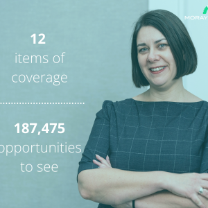 Legal PR photography, Jill Andrews appointment success post graphic, Simpson & Marwick.