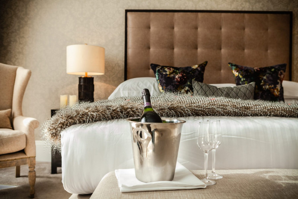 Hotel PR photography for Nira Caledonia interiors - romantic bedroom