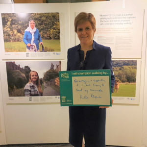 PR Photograph of First Minister of Scotland Nicola Sturgeon for Paths for All Charity PR