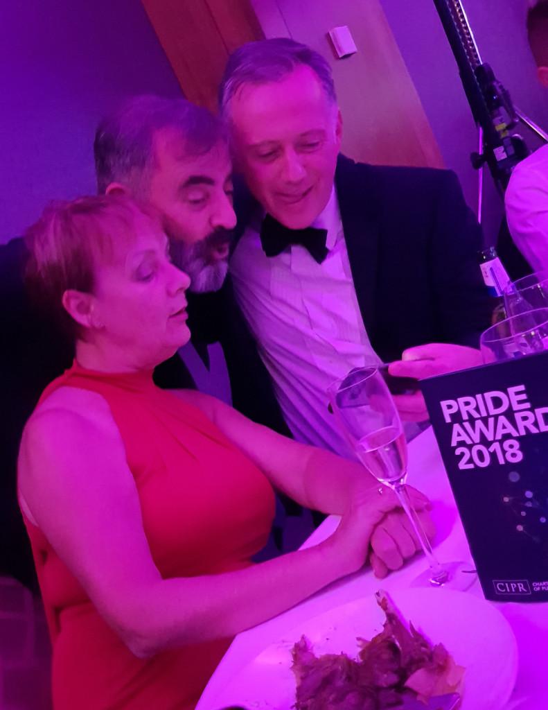Holyrood PR staff at CIPR PRide Scotland PR awards 2018