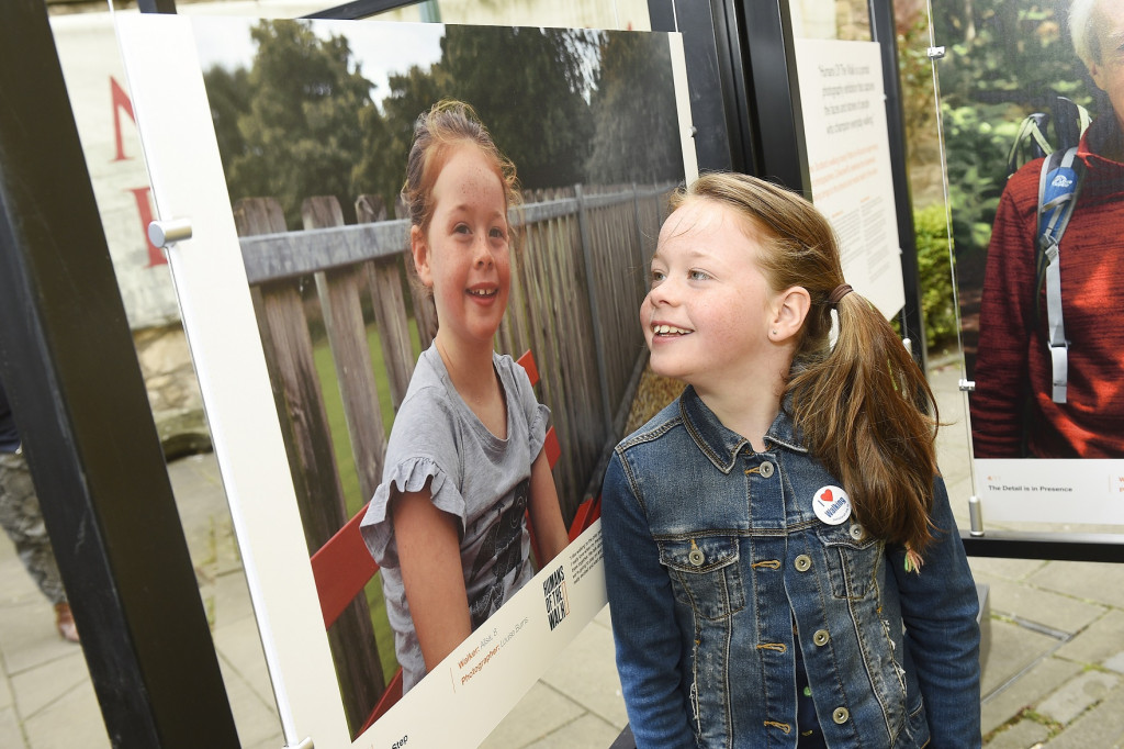 Ailsa at the Humans of the Walk exhibition launch