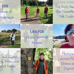 Scottish PR photography Paths For All volunteer awards success post graphic