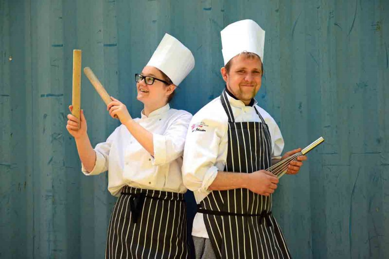 Successful catering students at Perth College