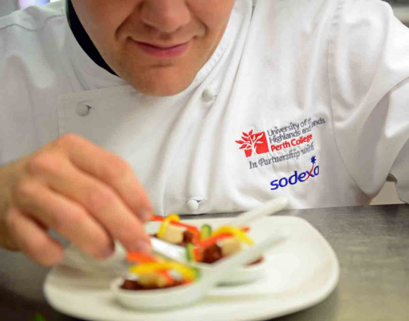 Catering students at Perth College