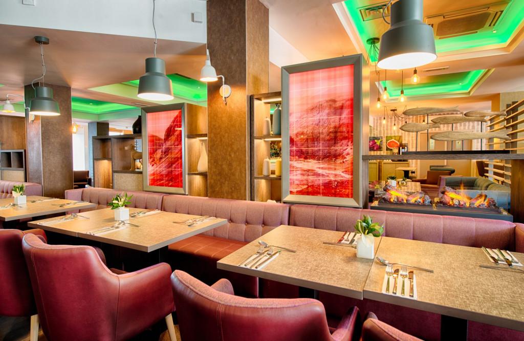 The restaurant area at the Leonardo Hotel in Edinburgh